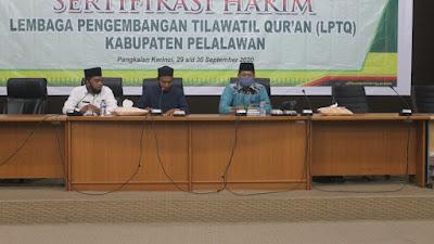 LPTQ Kabupaten Pelalawan Laksanakan Sertifikasi Dewan Hakim.