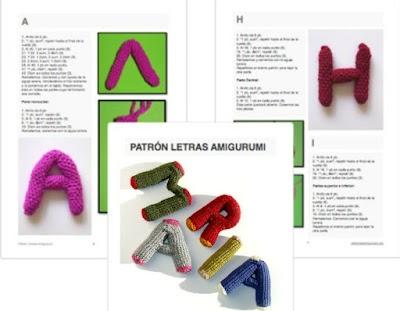 Abecedario crochet letras 3D amigurumis