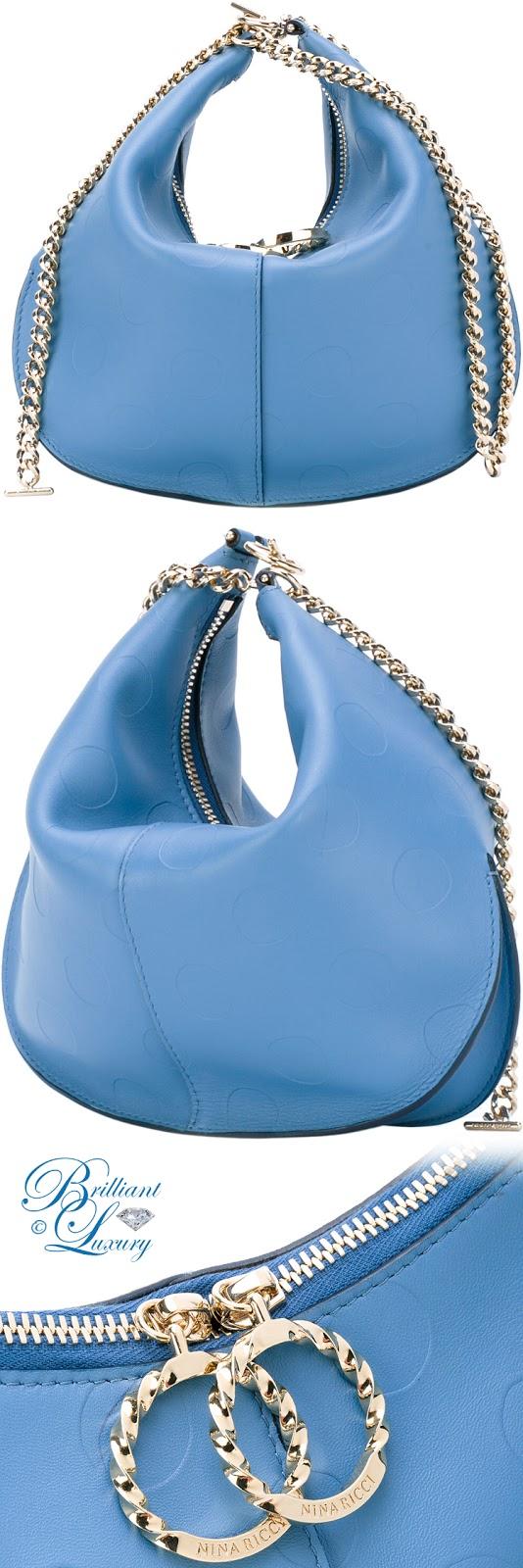 Brilliant Luxury ♦ Nina Ricci Chain Saddle Clutch