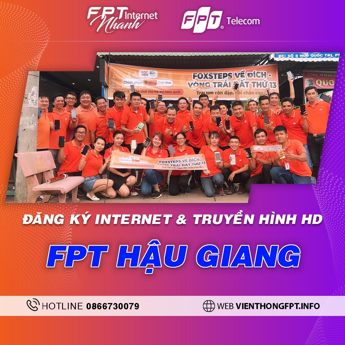 Chi nhánh FPT Hậu Giang - Tổng đài lắp mạng Internet + Truyền hình FPT
