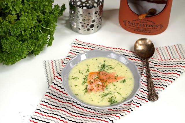 Zupa ziemniaczano-porowa z koperkiem