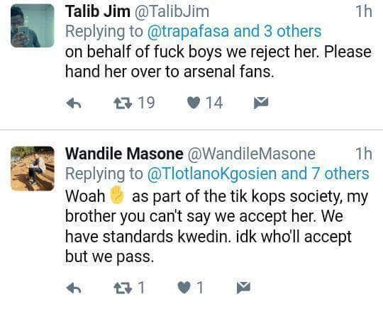 xx - Savage! South African lady warns broke niggas not to like her photo and Twitter users dragged her