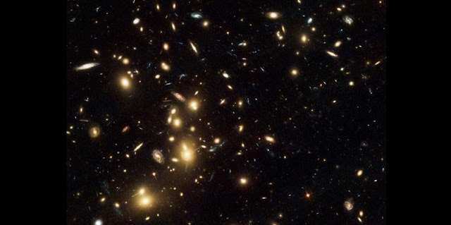 Galaxy cluster Abell 2744, imaged with the Hubble Space Telescope. The cluster lies in the constellation of Sculptor and contains several hundred galaxies. Credit: NASA, ESA, and R. Dupke (Eureka Scientific, Inc.), et al.