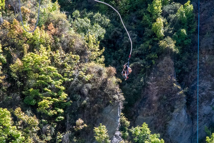 Bungy jumping over the Kawarau River, Queenstown.