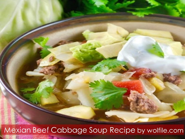Mexian Beef Cabbage Soup Recipe #Soup #Beef