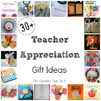 Teacher Appreciation Gift Ideas featured at The Educators' Spin On it