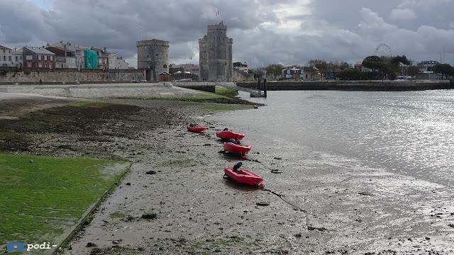 La Rochelle, marea baja