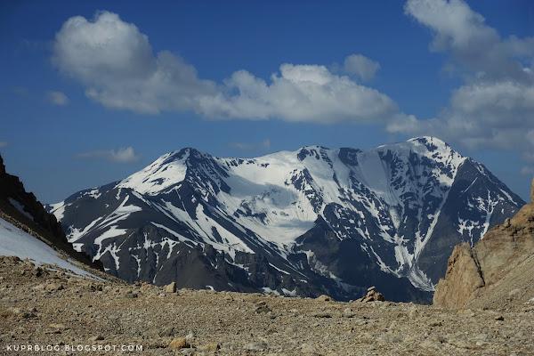 Вид с перевала на гору Базадюзю