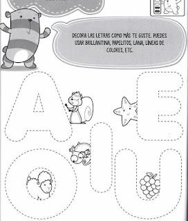 Imagenes de vocales para dibujar