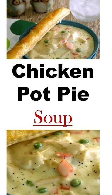 Chicken Pot Pie Soup #Chicken #Potpie #Soup #ChickenPotPieSoup