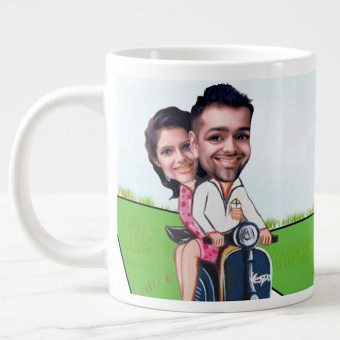 Personalised Couple Caricature Mug
