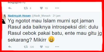 Sekolah Tinggi-tinggi, Kontributor JIL Autralia Nadirsyah Hosen Tuduh Nabi Cebok Hanya Pakai Batu