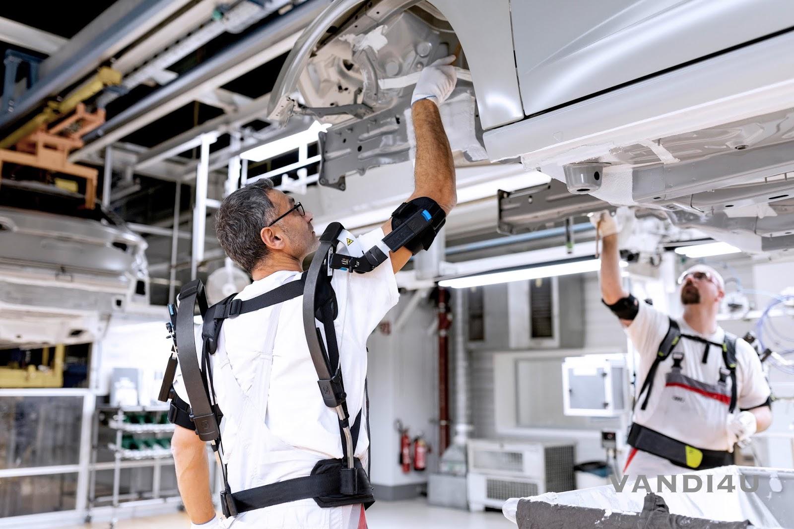 Audi AG tests exoskeletons for overhead tasks | VANDI4U