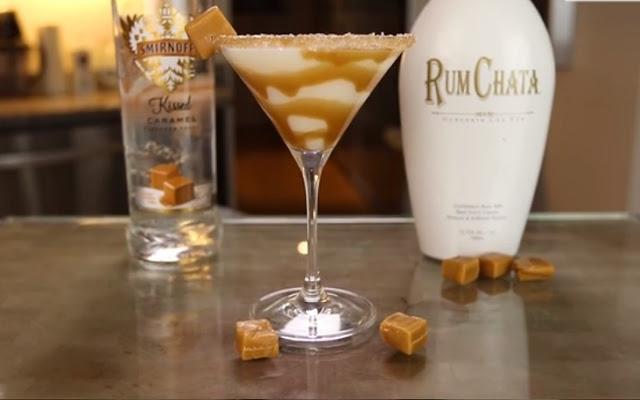 Salted Caramel Martini #drinks #alcohol