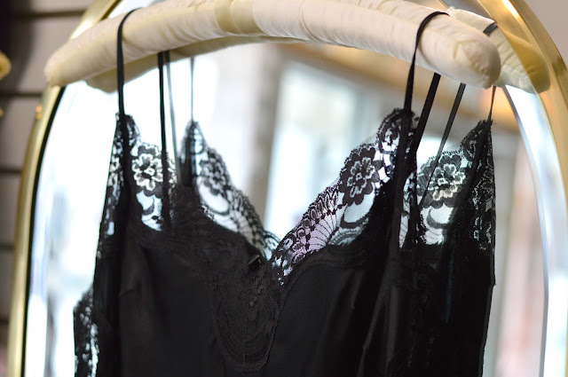 Black Lacy Slip- What Women Want for Valentine's Day | all dressed up with nothing to drink...