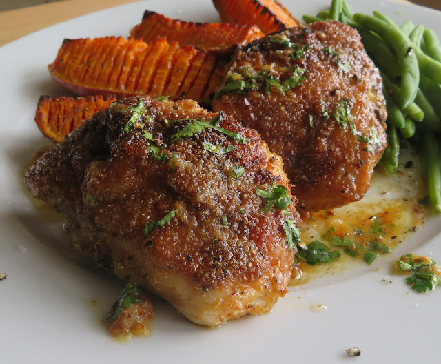 Spice Roasted Chicken Thighs