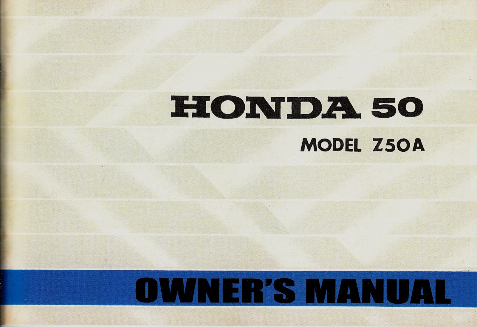 Z50 A Mini Trail Restoration Project Honda 50 Wiring Harness The Following Owners Manual Has Some Good General Information About Your Bike And It Includes Multiple Step By Procedures With Pictures On