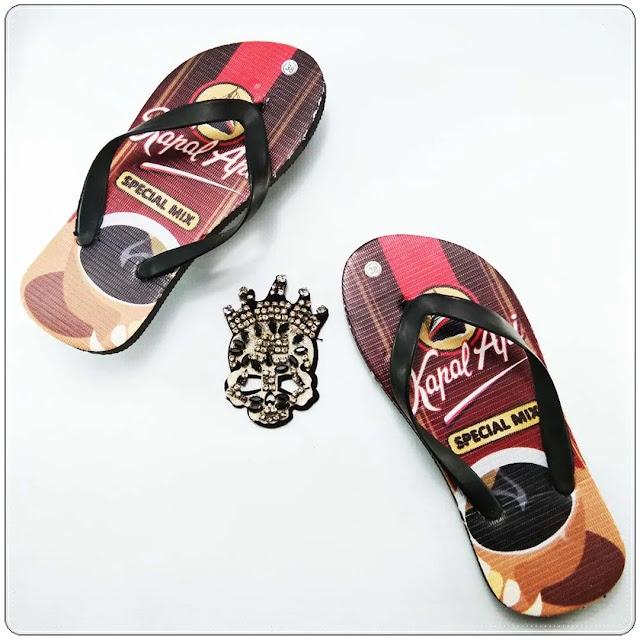 Pabrik Sandal Motif Termurah | Sandal Jepit Motif Kopi Pria AB