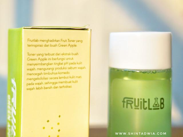 Review fruitlab toner green apple