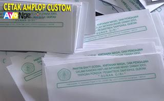 tempat cetak amplop kop surat yayasan murah di Kebon Jeruk, Jakarta Barat