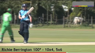 Richie Berrington 100 - Scotland vs Bangladesh Only T20I 2012 Highlights