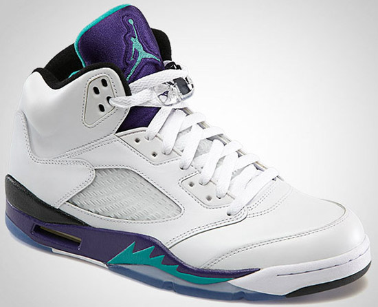 brand new 96552 4ddbe ajordanxi Your  1 Source For Sneaker Release Dates  Air Jordan 5 Retro White  New Emerald-Grape Ice-Black May 2013
