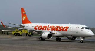 Nuevos precios de los pasajes aéreos Conviasa.