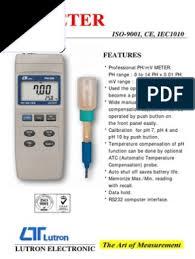 pH Meter Lutron pH-208 + pH Probe | Harga Ambyaar
