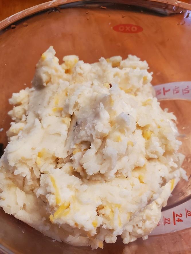 this is potato, cheese and sauerkraut for pierogi