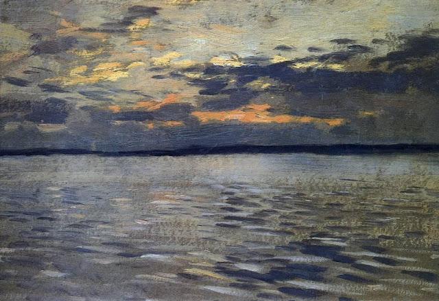 Исаак Ильич Левитан - Озеро. Вечер. 1890-е