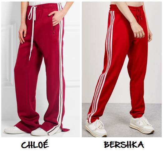 Clon pantalones deportivos Chloé Bershka