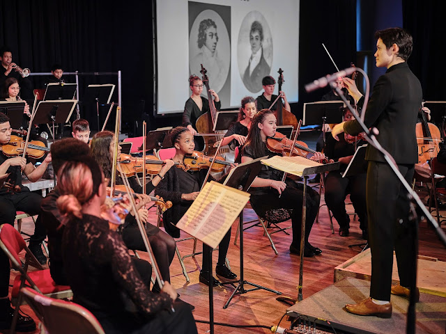 Chineke! Junior Orchestra at Southbank Centre's Imagine Festival, February 2020 (credit Orlando Gili)
