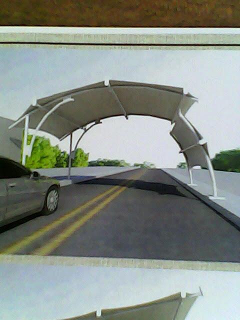 Tenda membrane untuk jalan umum