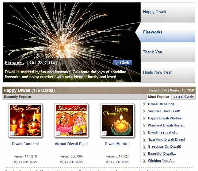 Rated Diwali Card for Diwali wish