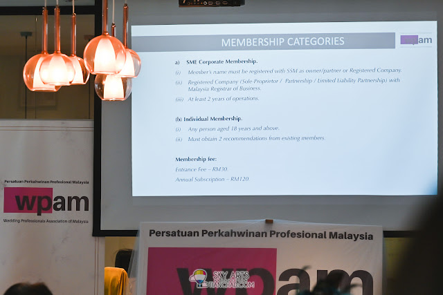 WEDDING PROFESSIONALS ASSOCIATION OF MALAYSIA (WPAM) membership Categories: SME Corporate Membership and Individual Membership