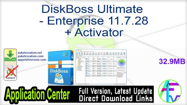 DiskBoss Ultimate – Enterprise 11.7.28 + Activator