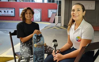 Virgínia Fortes e a repórter Marcella Borchetta - Divulgação/SBT