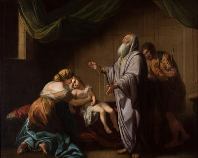 אלישע מחייה את בן השונמית, בנג'מין ווסט 1765