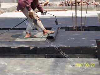 waterproofing membrane untuk lantai basement
