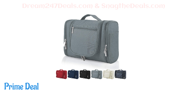 50% Off Hanging Travel Toiletry Bag for Navy, Beige, Grey
