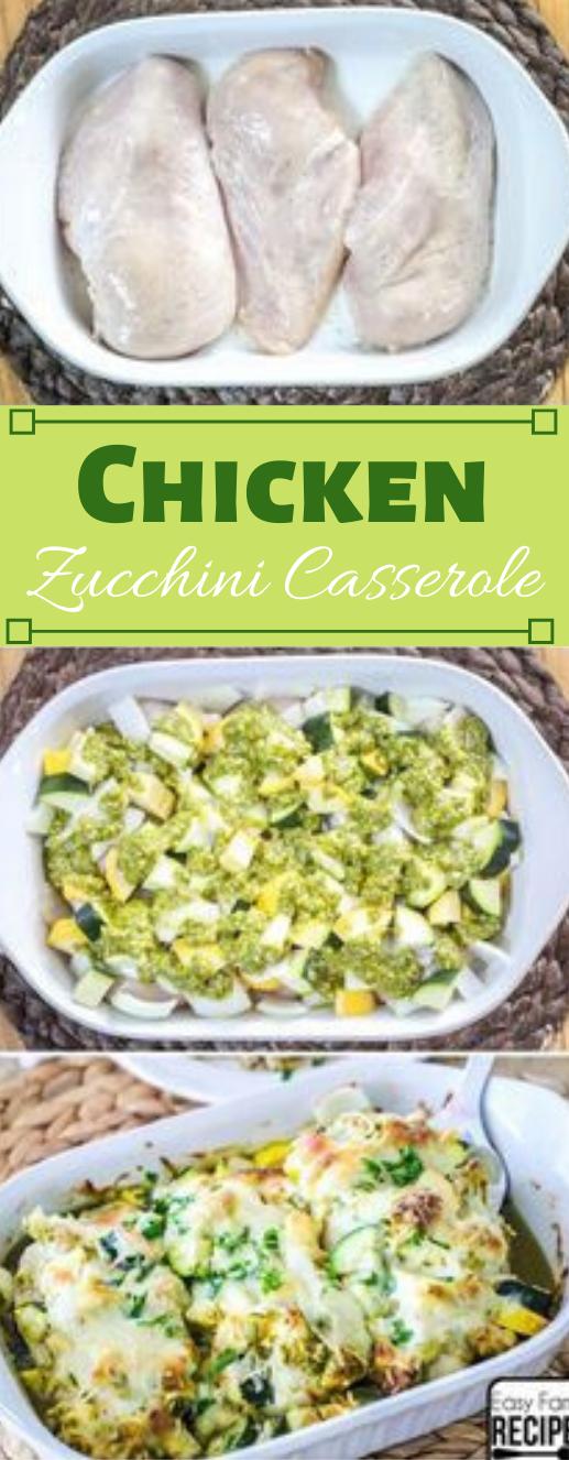Chicken Zucchini Casserole #dinner #casserole #chicken #zucchini #easy