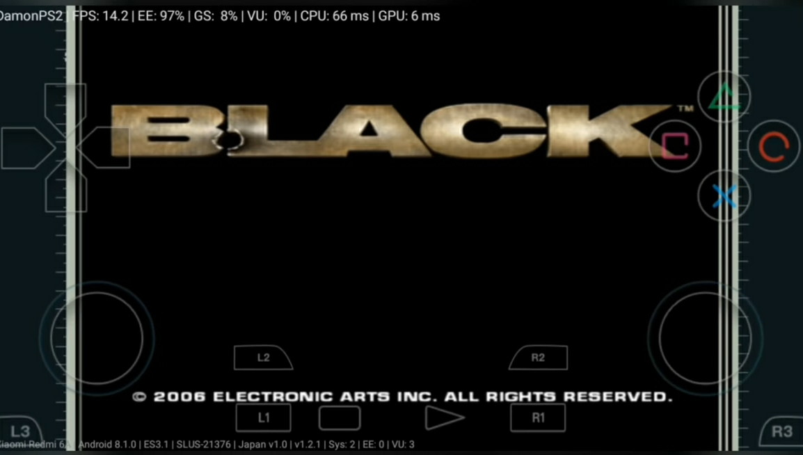 Download Game BLACK PS2 Untuk Android 145Mb DamonPS2 Emulator