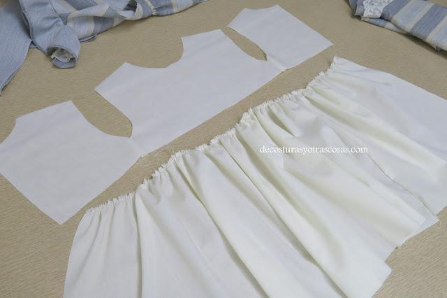 forro de algodón para vestido niña