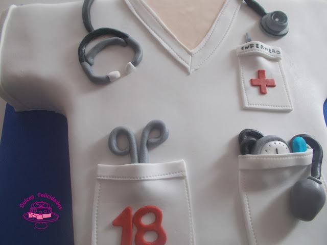 Tarta fondant enfermero