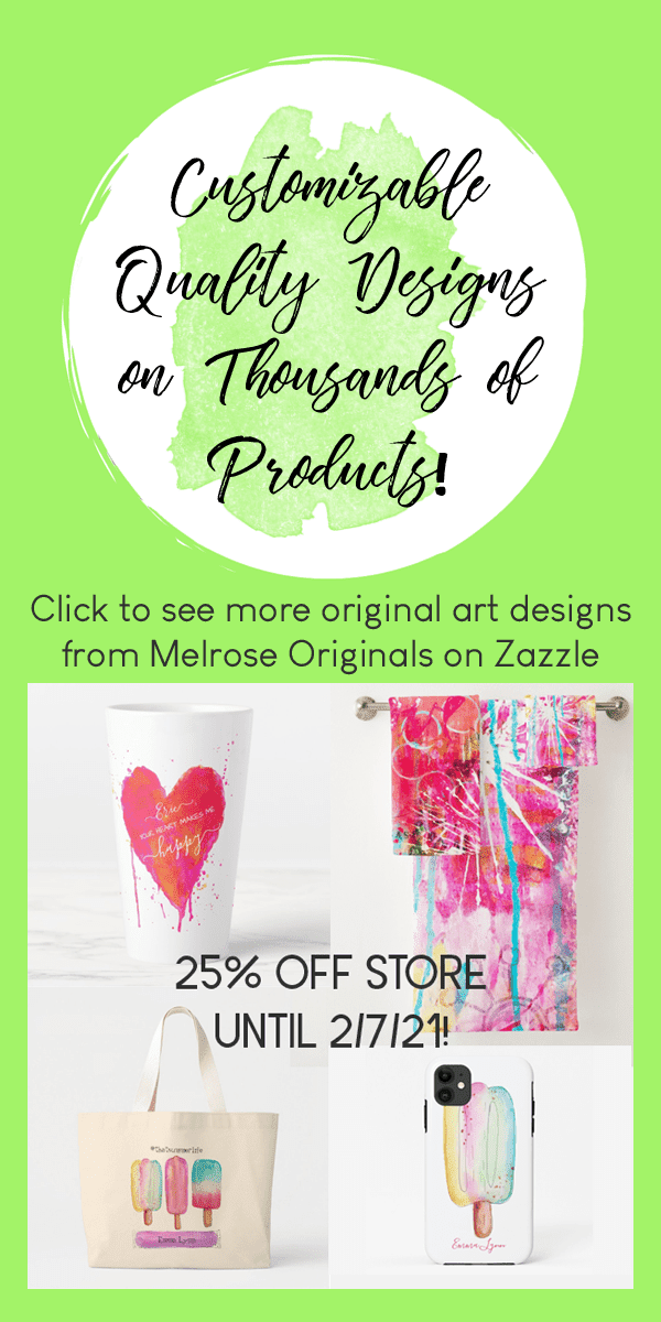 pin image of custom products from original art designs from Melrose Originals on Zazzle