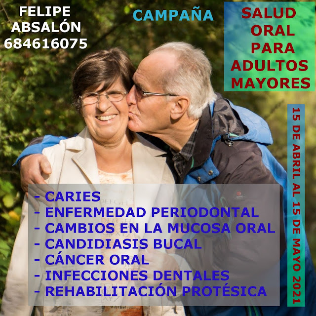 Campaña de adultos mayores a partir de 65, revisión bucal gratuita