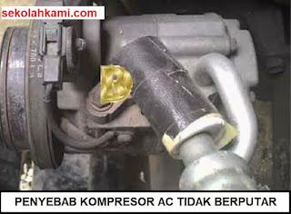 penyebab kompresor ac tidak berputar
