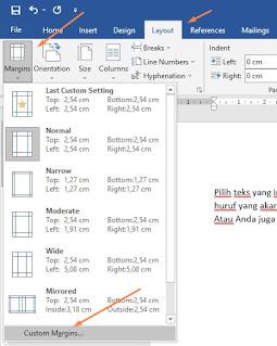 Cara mengatur perataan teks di Ms Word