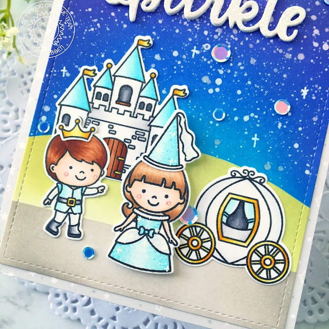 Sunny Studio Stamps: Enchanted Sparkle Word Die Everyday Card by Ashley Ebben