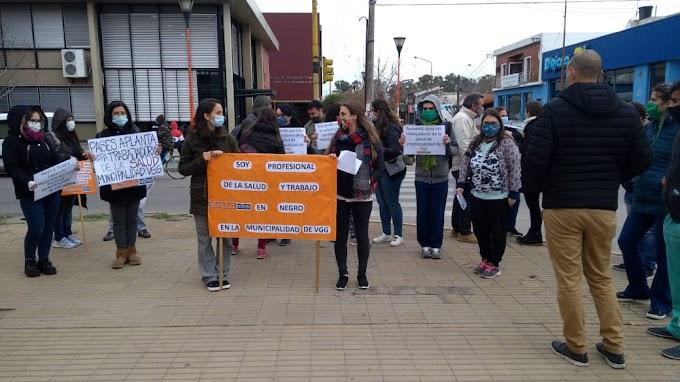 Comenzó el Paro de Siprus en los Centros de Salud Municipal y protesta frente a la Municipalidad